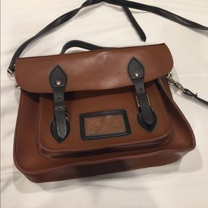 """Cambridge Satchel Two Toned, 14""""Black and Brown."""
